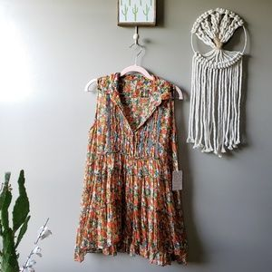 Free People | Floral Print Tiered Sleevless Tunic